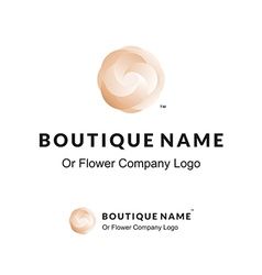 Beautiful Logo with Flower for Boutique or Beauty vector