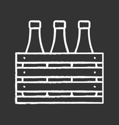 Beer case chalk icon vector