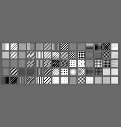big set of 70 seamless abstract patterns black vector image