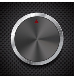 Black Volume Button Knob vector