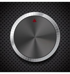 Black volume button knob vector