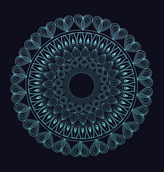 blue mandala ornament ancient ethnic vector image