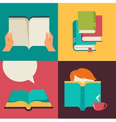 Book and reading concept design vector image