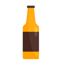 bottle of german beer icon flat style vector image