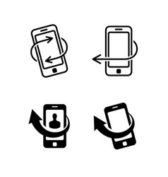 call me back icons set vector image