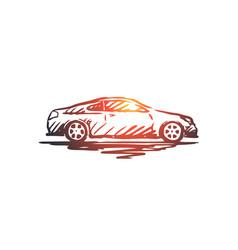 Car transportation vehicle auto speed concept vector
