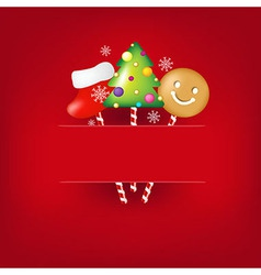 Christmas Poster With Candies vector
