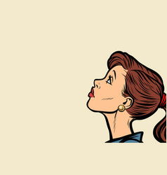 Close-up woman face profile vector