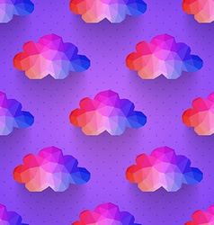 cloud seamless pattern background made of vector image