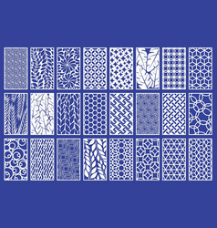 decorative laser cut panels template with abstract vector image