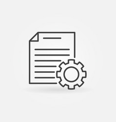 document settings line icon document vector image