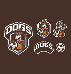 dogs mascot logo design vector image