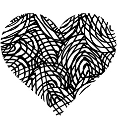 Doodle heart shaped 2 vector