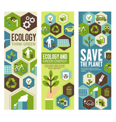 Environment protection banner for eco concept vector