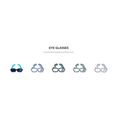 eye glasses icon in different style two colored vector image