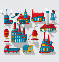 factory - buildings and other objects vector image