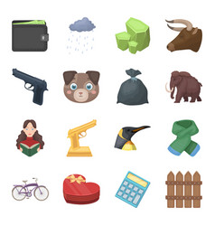 finance police animals and other web icon in vector image