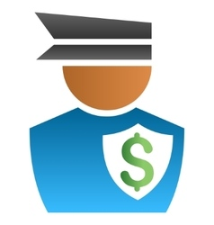 Financial Policeman Gradient Icon vector image