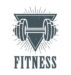 Fitness badge sign image vector