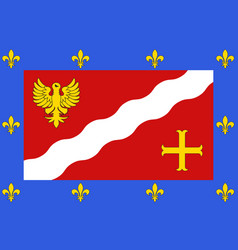 Flag of val-doise in ile-de-france france vector