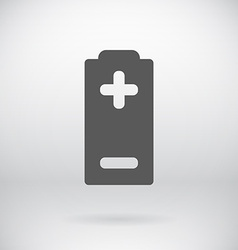 Flat Battery Sign Charging Energy Symbol vector image