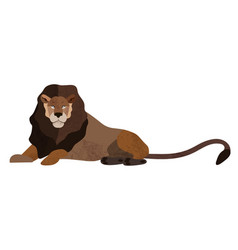 flat lion vector image