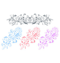 floral decorative ornaments flower branch vector image