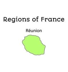 France administrative map of Reunion vector