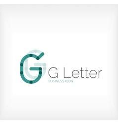 G letter logo minimal line design vector image