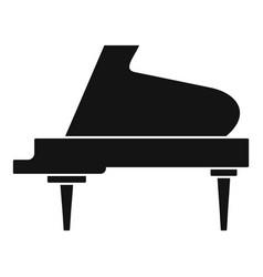 Grand piano instrument icon simple style vector