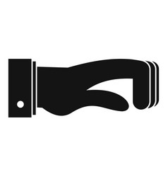 hand concept icon simple black style vector image