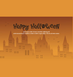 happy halloween style with castle vector image