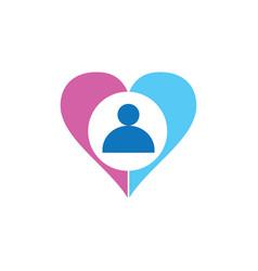 hearth people logo vector image vector image