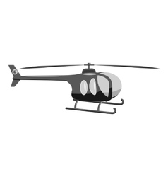 Helicopter icon gray monochrome style vector