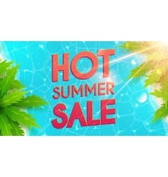 Hot summer sale banner vector image