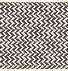 Houndstooth fabric seamless pattern vector