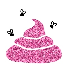 Image of pink glitter shit White background vector