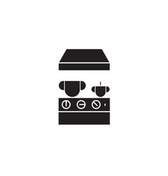 kitchen stove black concept icon kitchen vector image