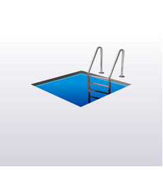ladder down the square hole hatch vector image