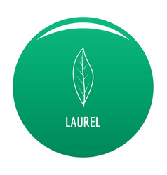 laurel leaf icon green vector image