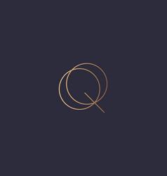 Letter q logo monogram minimal style identity vector
