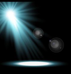 Light circle with a spotlight aqua color vector