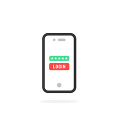 login like linear mobile phone security vector image