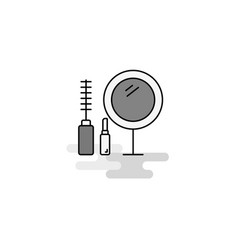 makeup web icon flat line filled gray icon vector image