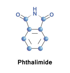 phthalimide organic molecule vector image