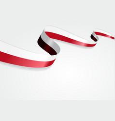 Polish flag background vector image