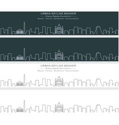 Porto alegre single line skyline banner vector