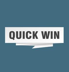 Quick win vector