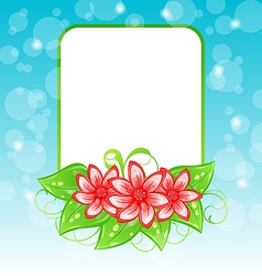 Romantic card with flowers and place for text vector image vector image