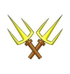 Sai ninja weapon icon cartoon style vector image
